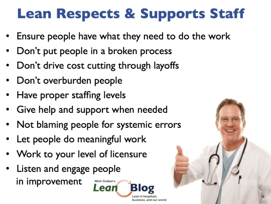 10 ways lean respects & supports people