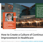 #TBT: My Podcast Interview with Joe Swartz on a Kaizen Culture in Healthcare